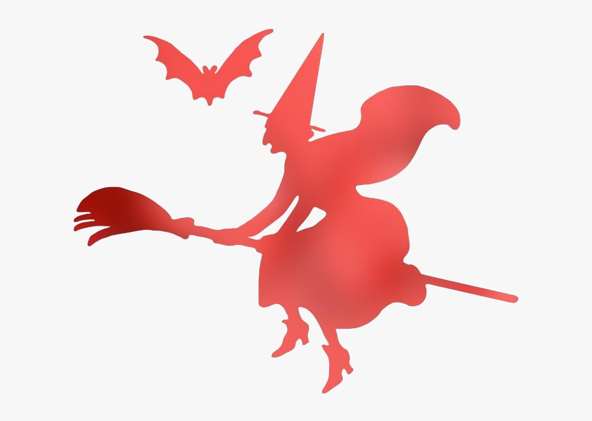 Witch On Broom Clipart This Cartoon Clip Art Of A Witch - Witch Clipart ,  Free Transparent Clipart - ClipartKey