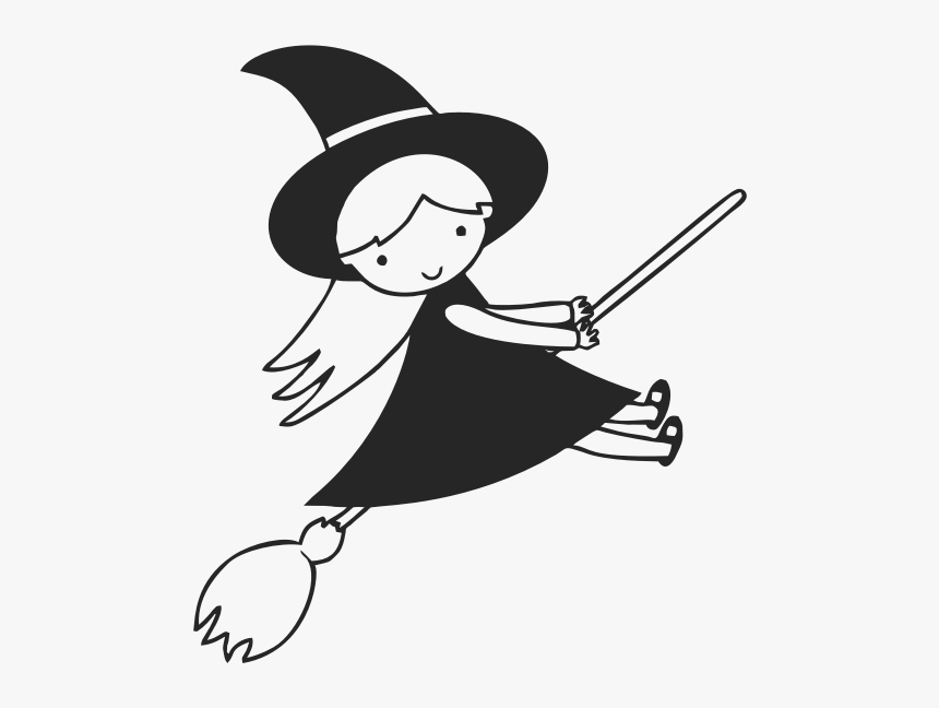 Flying Witch Clip Art