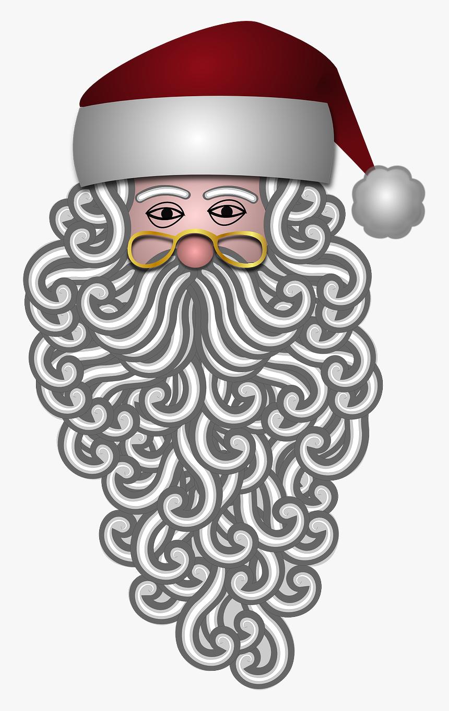 "Santa Claus, Bearded, Beard, Santa""s Hat, White - Uncle Sam Beard Transparent, HD Png Download, Free Download"
