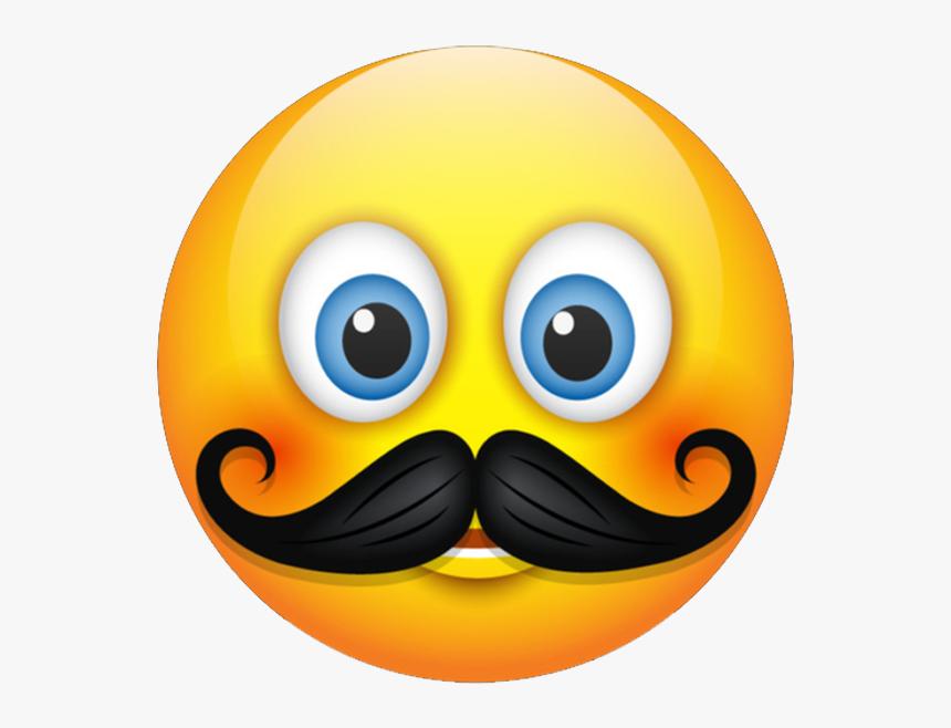 Mustache Emoji - Emoji Props, HD Png Download, Free Download