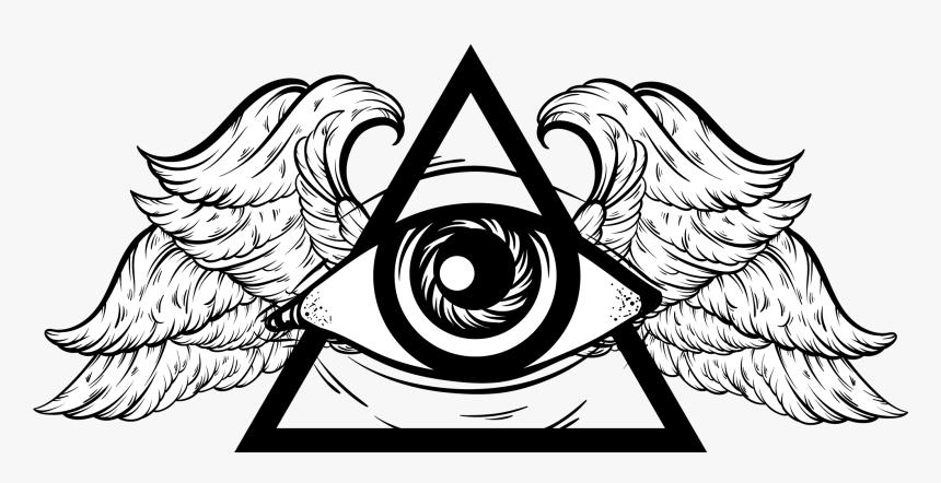 Download Angel Wings With - All Seeing Eye With Wings, HD Png Download, Free Download