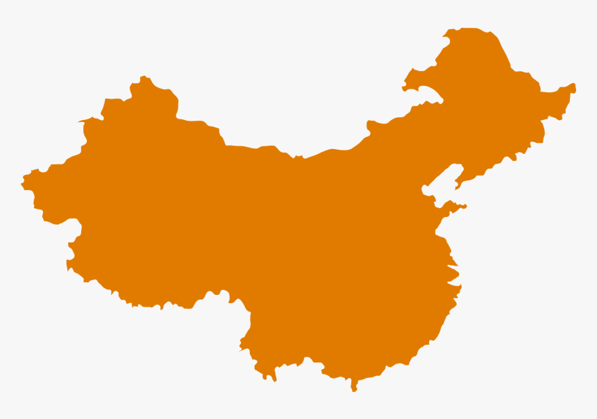 History Of China Map Royalty-free - Map Of China Shape, HD Png Download, Free Download