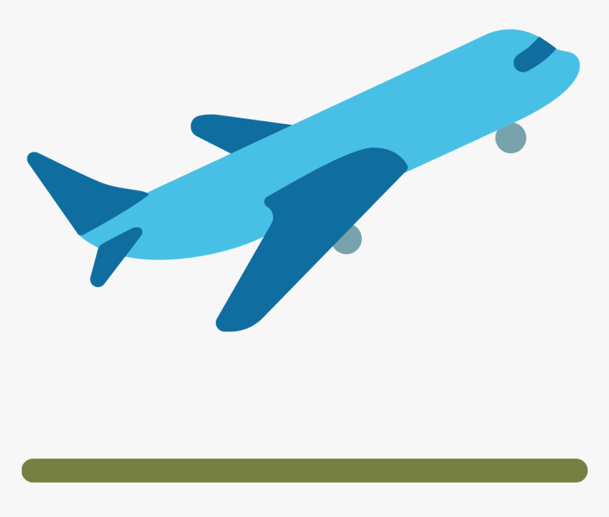 Airplane Emoji Png - Airplane Travel Emoji, Transparent Png, Free Download