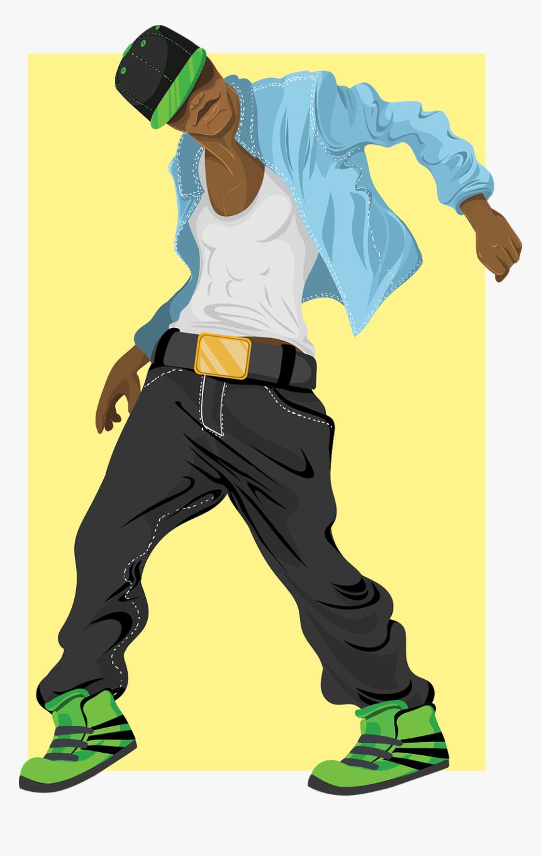 Dancer Man Male Free Picture Boy Cartoon Hip Hop Dancer Hd Png Download Kindpng