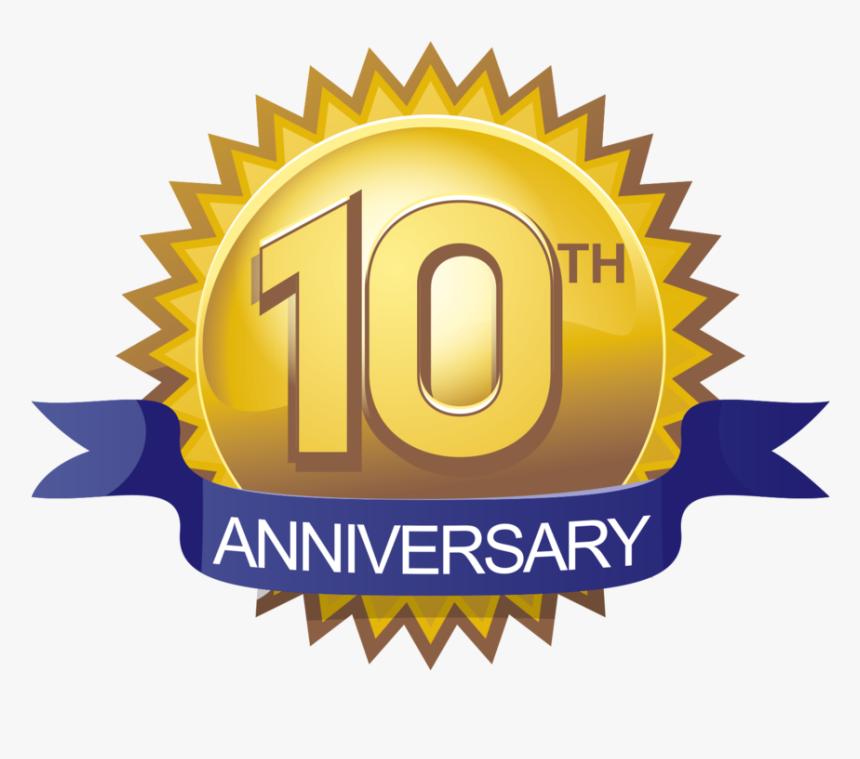 10th Anniversary Logo Png, Transparent Png - kindpng