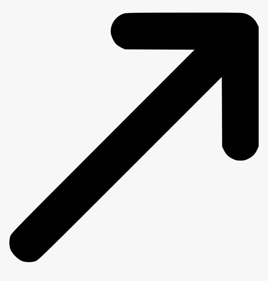Top Right Vector Arrow Navigation - Arrow Pointing Top Right, HD Png Download, Free Download