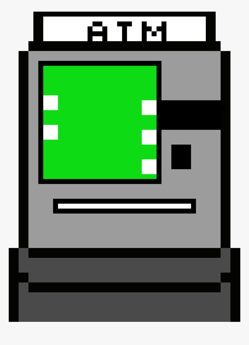 Pixel Art Atm, HD Png Download, Free Download