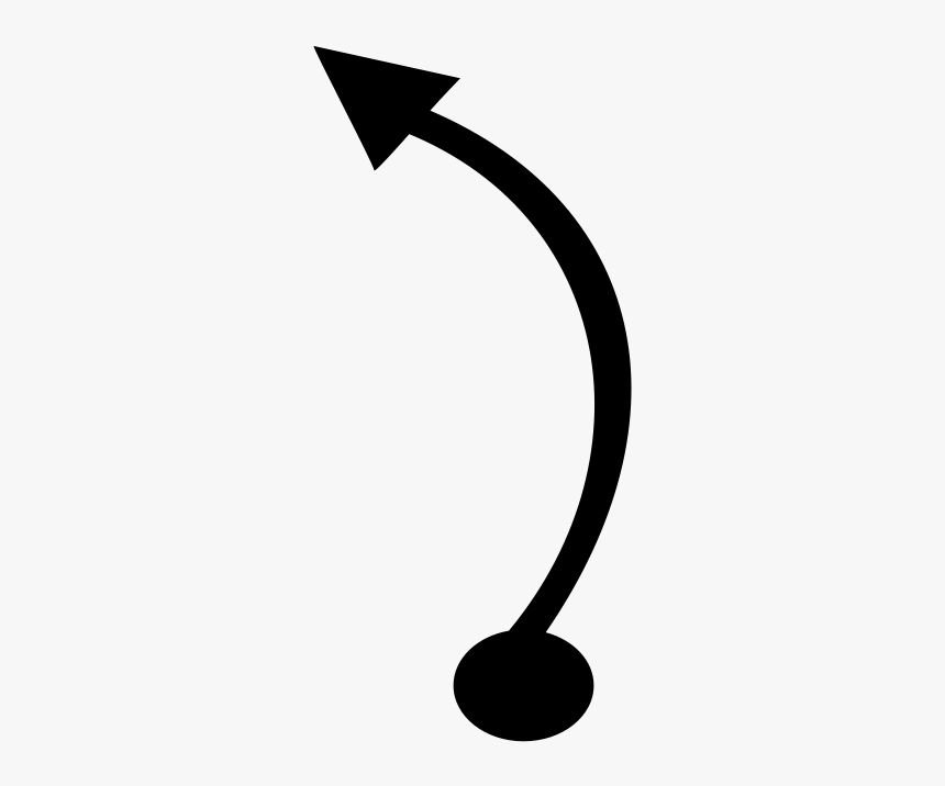 Curved Arrow Circular Arrow Clip Art - Curved Line Arrow Vector, HD Png Download, Free Download