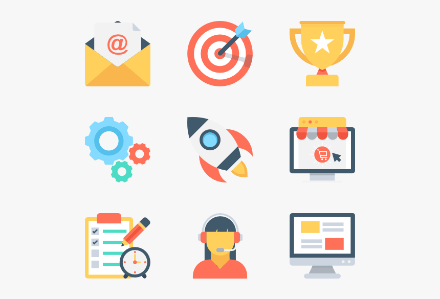 Essential Set - Digital Marketing Icons Png, Transparent Png, Free Download