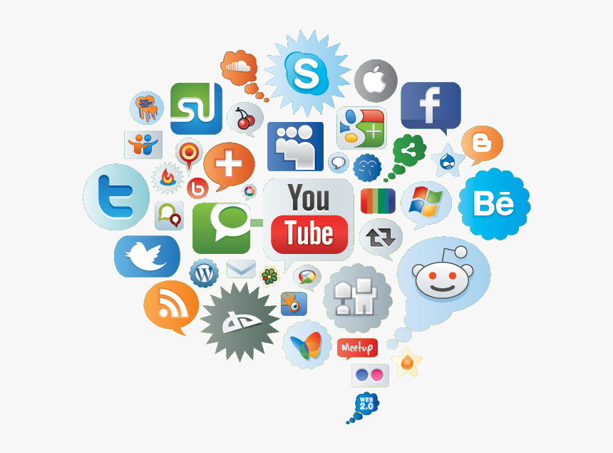 Social Media Marketing Company In San Diego - Social Media Icons Cloud, HD Png Download, Free Download