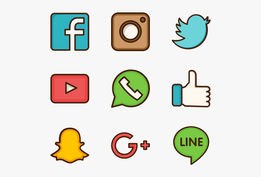 Social Media Icon Png Vector, Transparent Png, Free Download