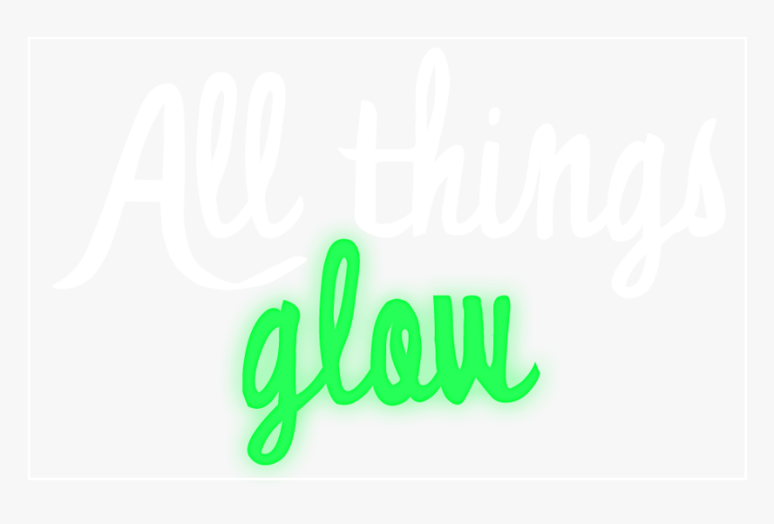 """Allthingsglow""""  Width=""""111 - Calligraphy, HD Png Download, Free Download"""