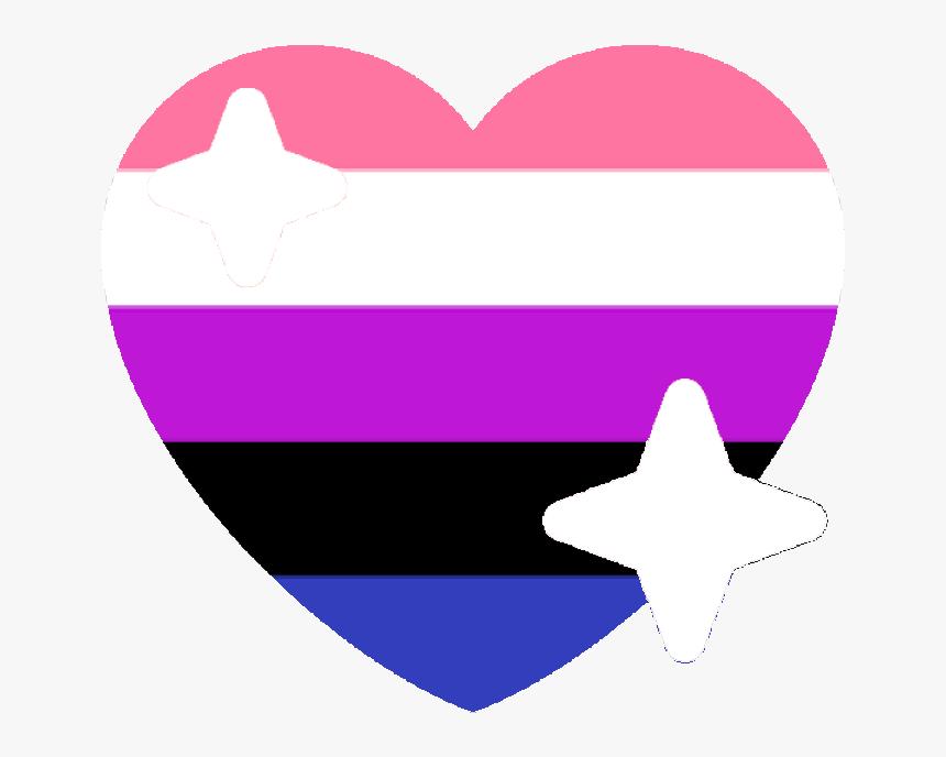 Genderfluid Sparkle Heart Discord Emoji - Genderfluid Heart Emoji, HD Png Download, Free Download