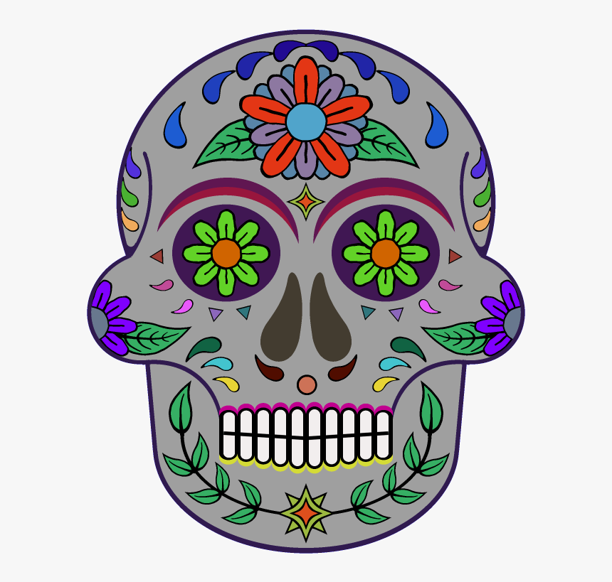 Day Of The Dead 800 X 800 Png Transparent - Day Of Dead Skull Texture, Png Download, Free Download