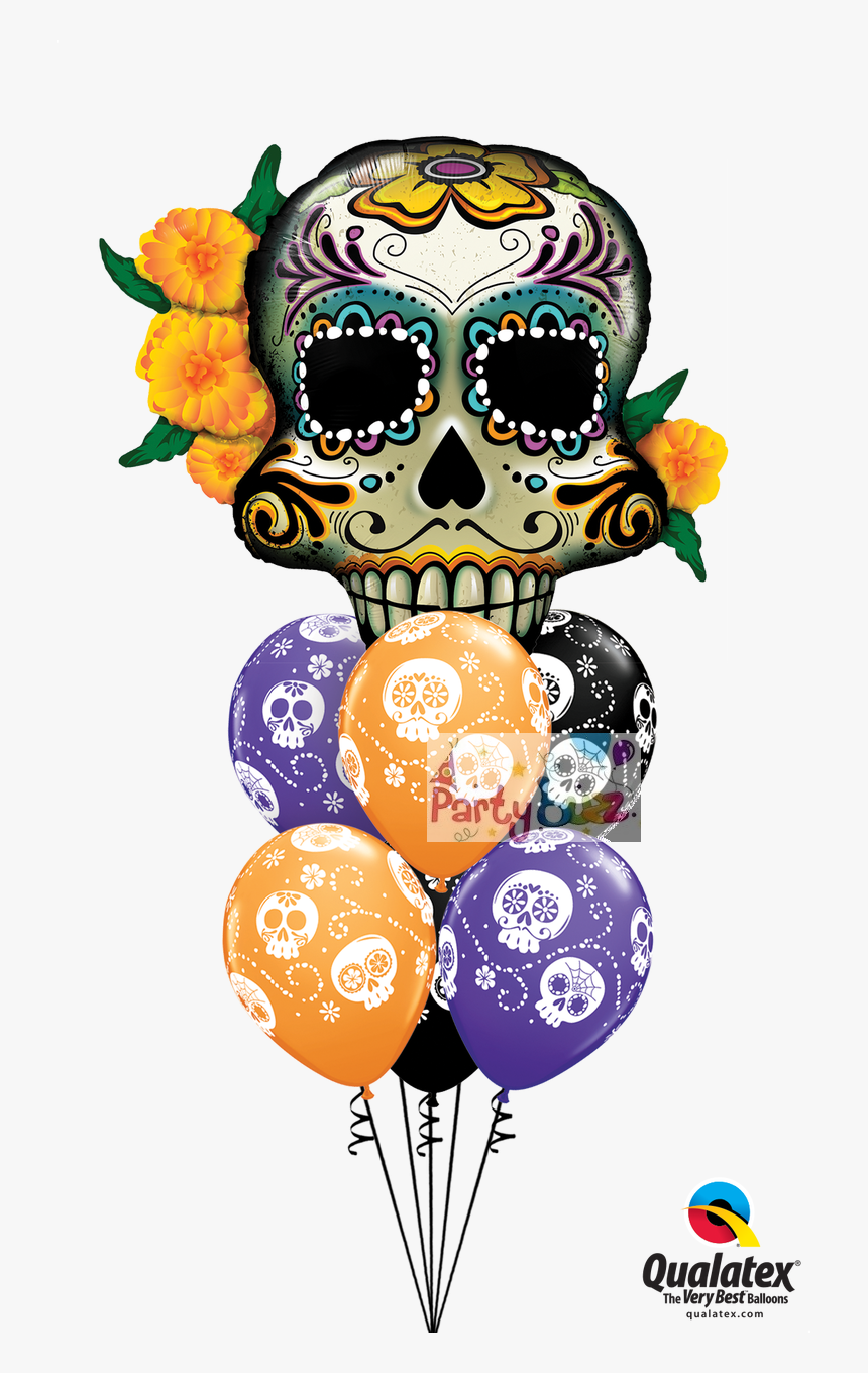 Transparent Day Of The Dead Skull Png - Day Of The Dead Skull Baloon, Png Download, Free Download