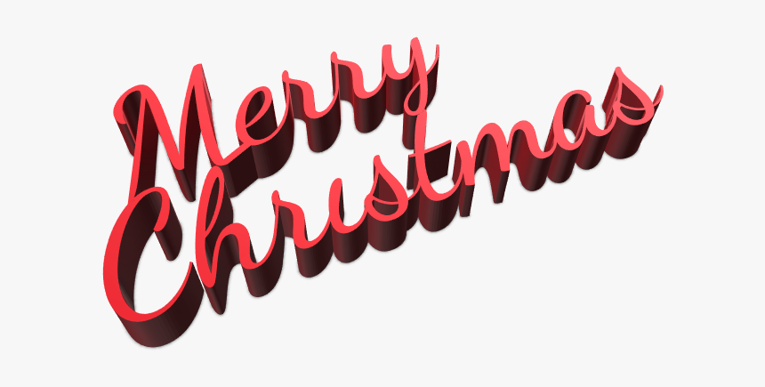 Merry Christmas Sign - Calligraphy, HD Png Download, Free Download