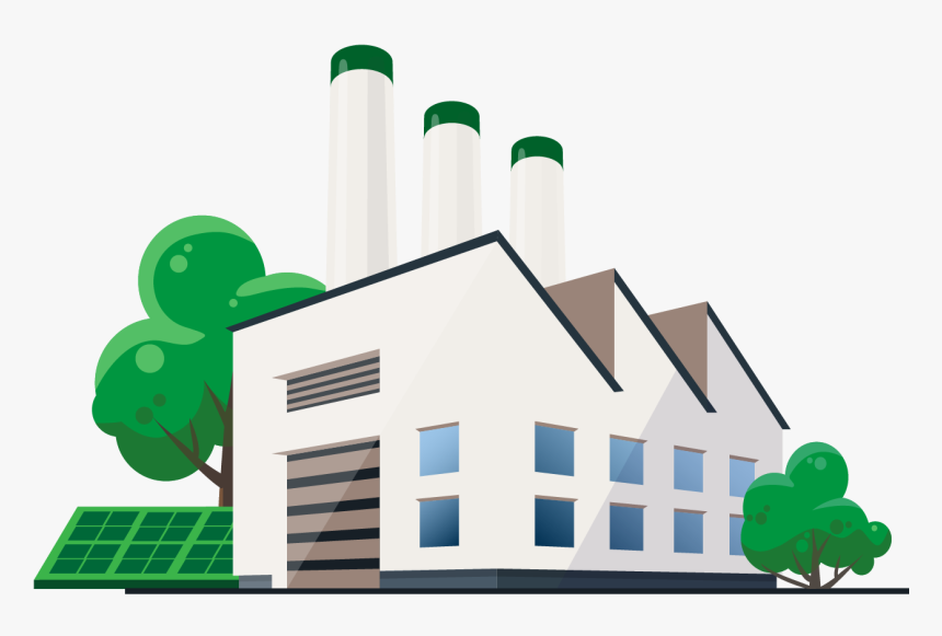 Transparent Solar Power Plant Clipart Cartoon Transparent Business Building Hd Png Download Kindpng
