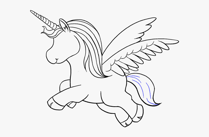 How To Draw A Unicorn In A Few Easy Steps Easy Drawing - Step By Step Draw Unicorn, HD Png Download, Free Download
