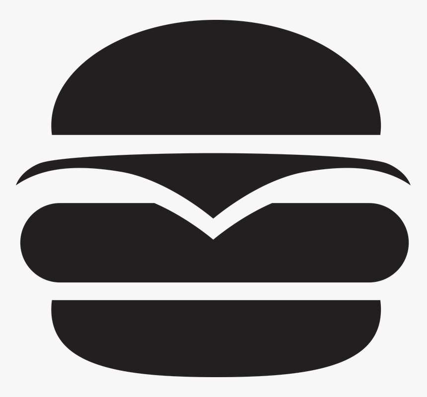 Hamburger, Burger, Food, Meat, Fast, Cheese, Sandwich - Illustration, HD Png Download, Free Download