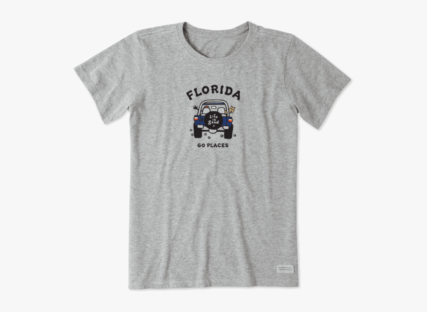 """Women""""s Florida Gators Off Road Vintage Crusher Tee - Life Is Good Womens T Shirts, HD Png Download, Free Download"""