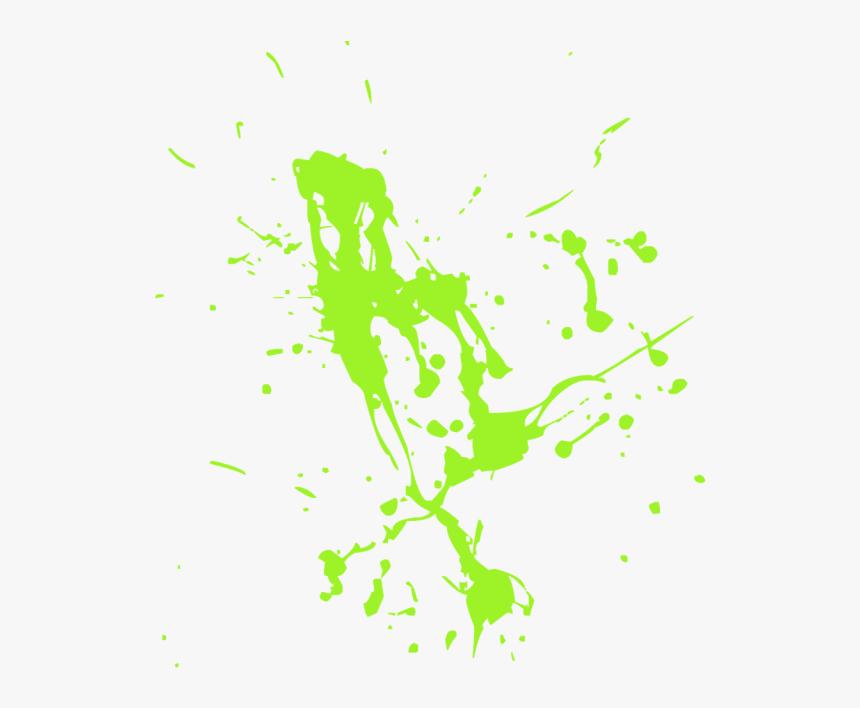 Green Brush Stroke Png - Paint Splatter, Transparent Png, Free Download