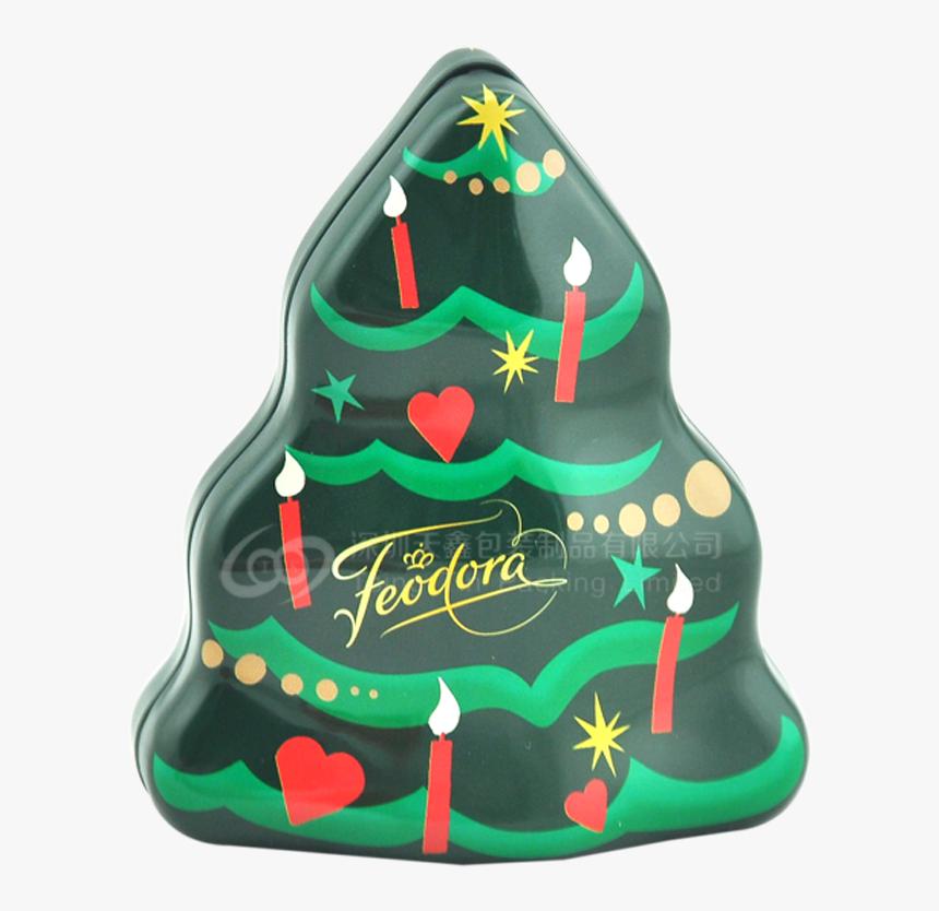 Christmas Chocolate Tin Boxes - Christmas Tree, HD Png Download, Free Download