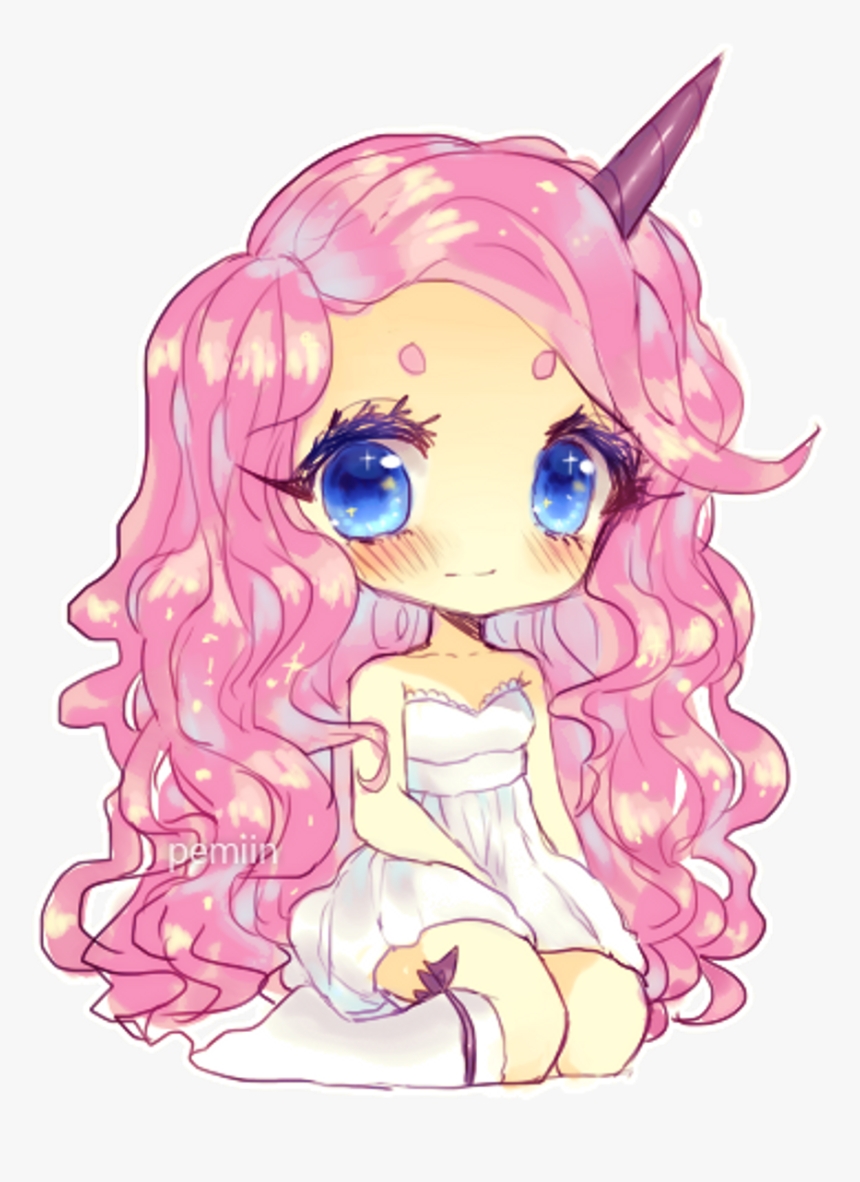 #anime #chibi #kawaii #animeeyes #yaoi #candy #candyboy - Cute Drawing Girl Unicorn, HD Png Download, Free Download