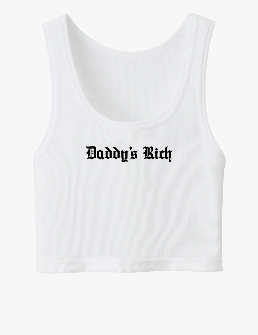 "Daddy""s Rich Ribbed Crop Top""  Class=""lazyload Lazyload - Active Tank, HD Png Download, Free Download"