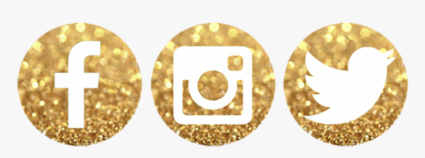 Thanks 4 Using, New Sticker In Making Follow Me @eriqnas92 - Gold Social Media Logos Png, Transparent Png, Free Download