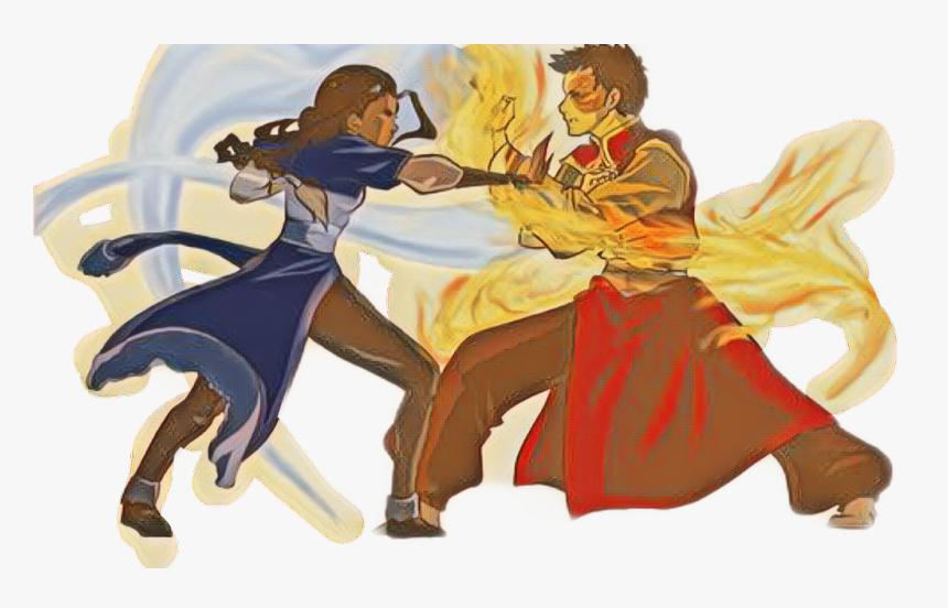 Katara Vs Zuko - Zuko And Katara Fight, HD Png Download, Free Download