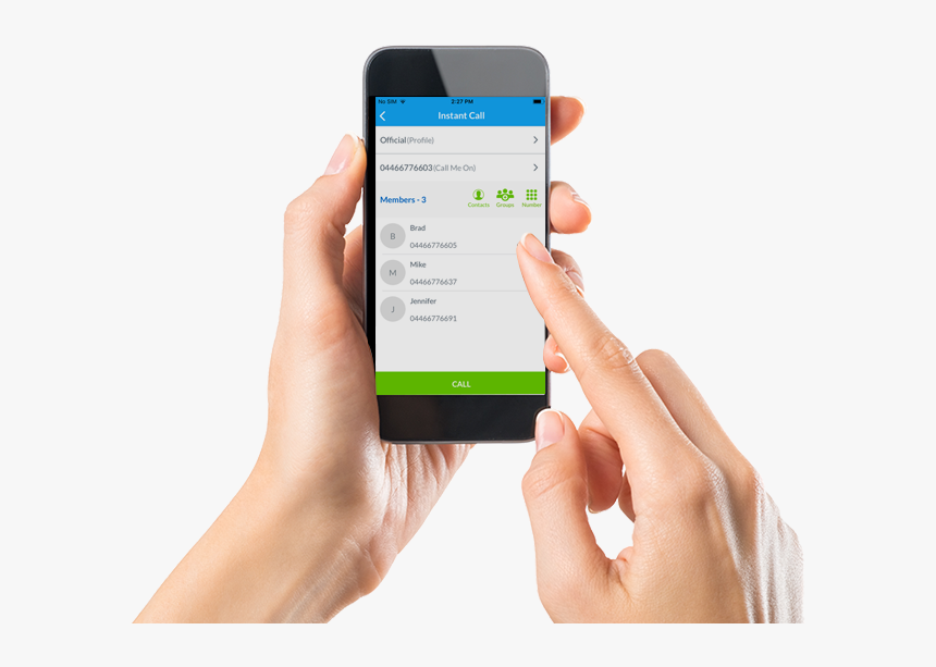 Mutical-mobile - Hand Typing On Phone, HD Png Download, Free Download