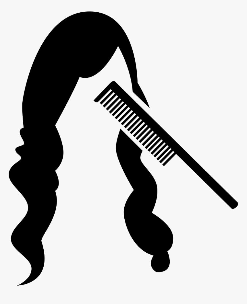 Comb And Long Hair - Comb Hair Icon Png, Transparent Png, Free Download