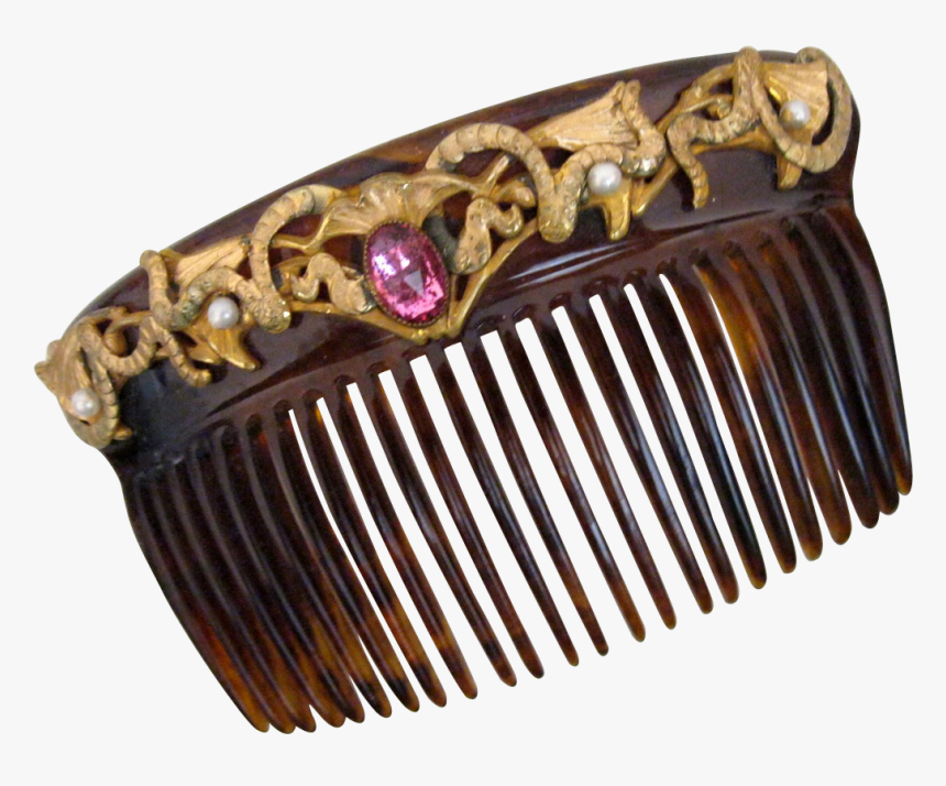 Victorian Jeweled Hair Comb - Pre-engagement Ring, HD Png Download, Free Download