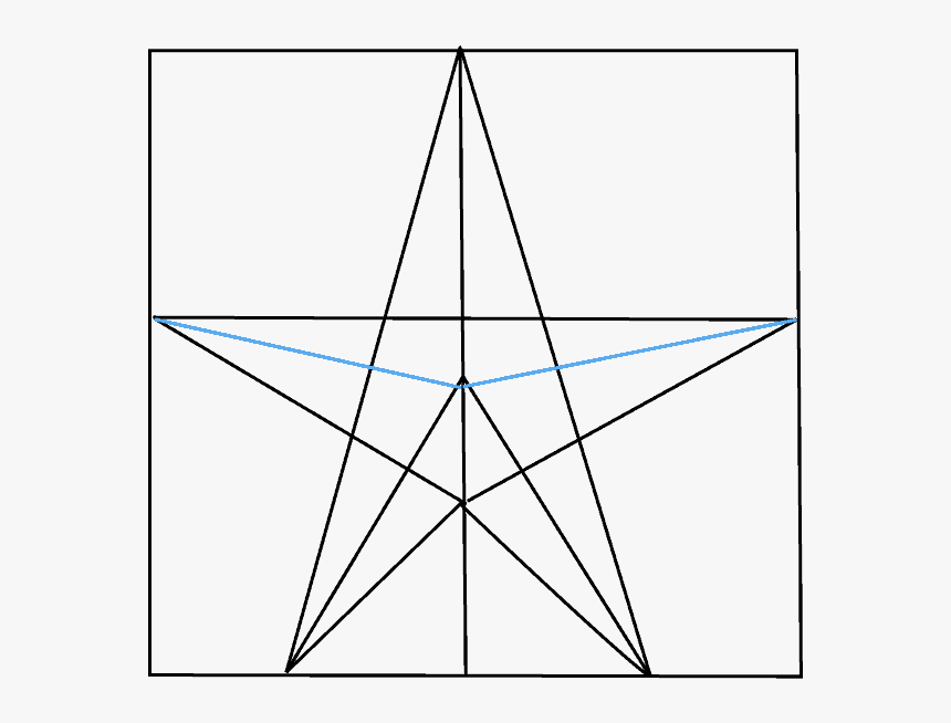 How To Draw Star - Draw Star Step By Step, HD Png Download, Free Download