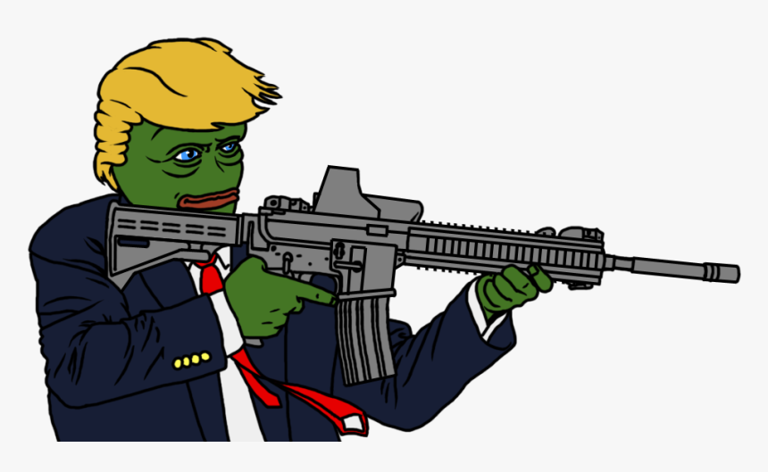 Trump Pepe With Gun, HD Png Download, Free Download
