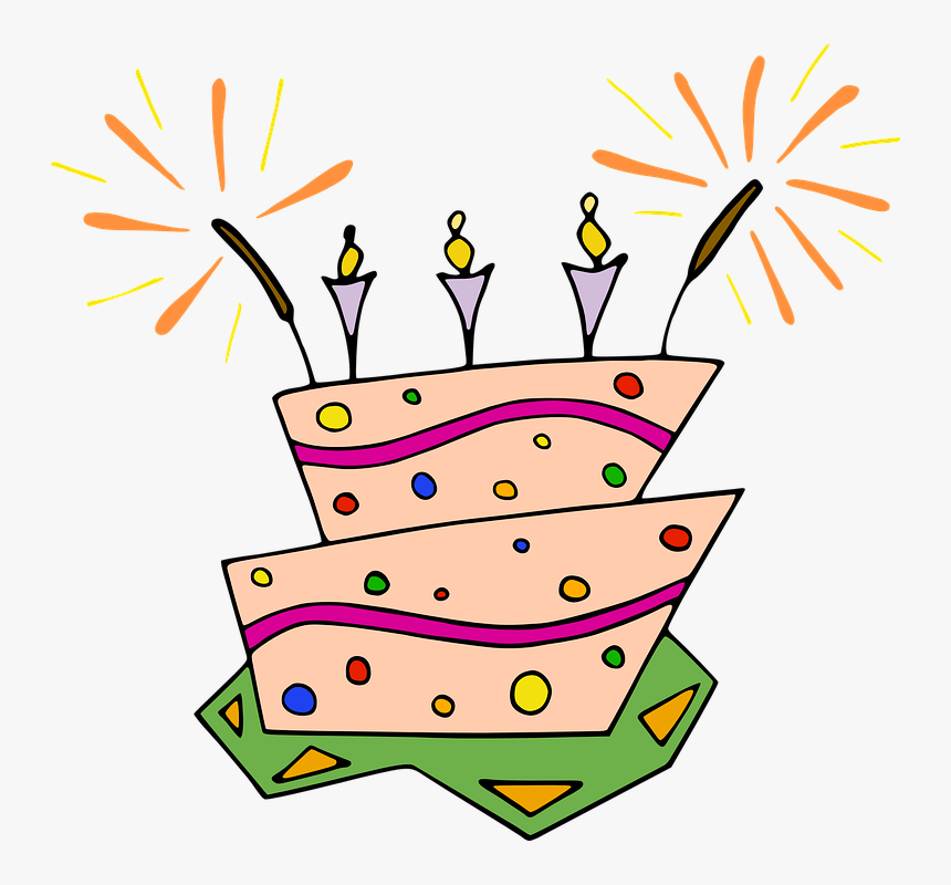 Birthday Cake, Party, Dessert, Food, Sweet, Candle, - Birthday Cake Clip Art, HD Png Download, Free Download