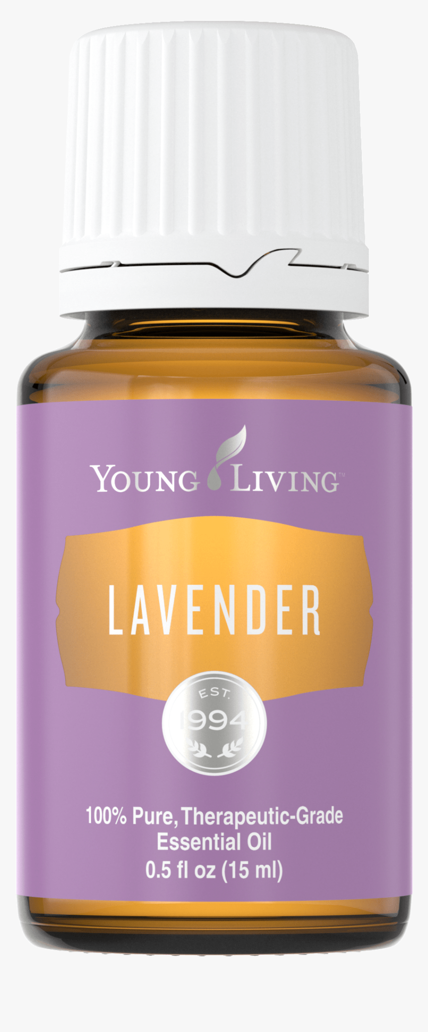 Harvested And Distilled In The U - Lavender Bottle Young Living, HD Png Download, Free Download