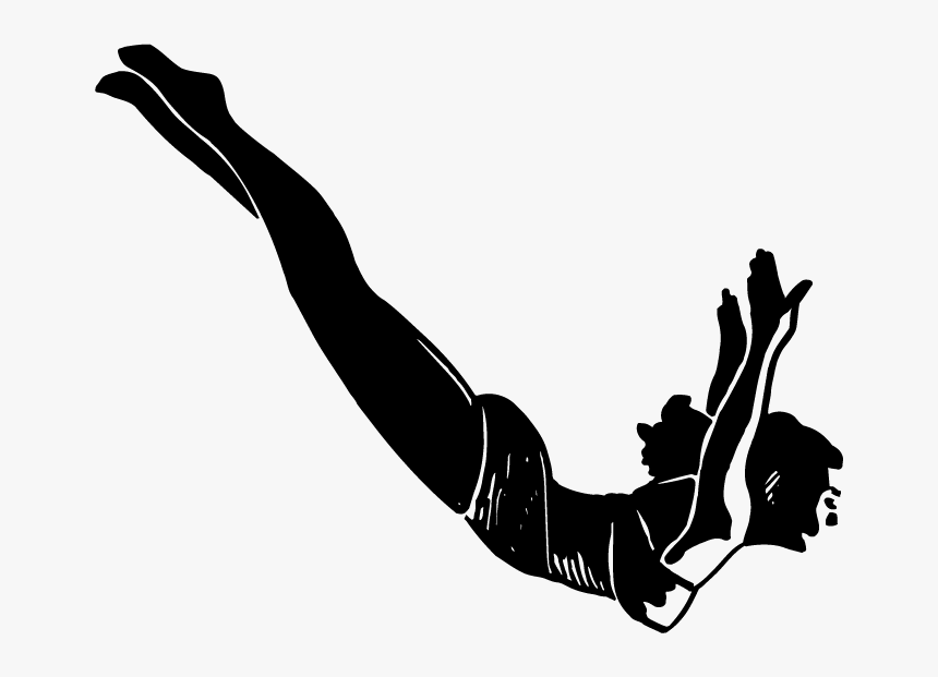 Stock Vector Men Cliff - Swan Dive Png, Transparent Png, Free Download