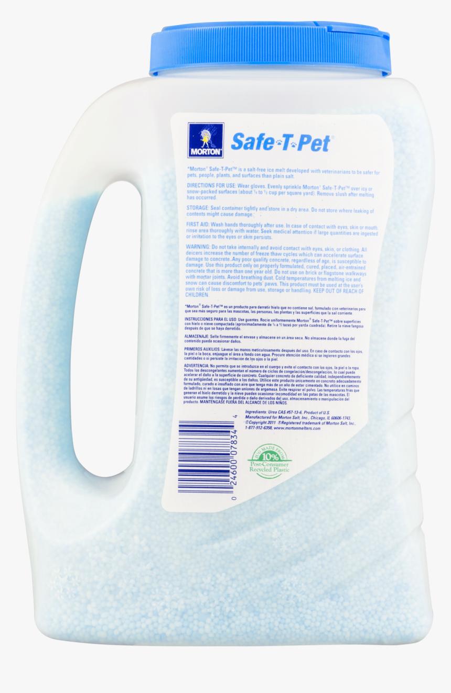 Plastic Bottle - Morton Safe T Salt Bag Ingredients, HD Png Download, Free Download