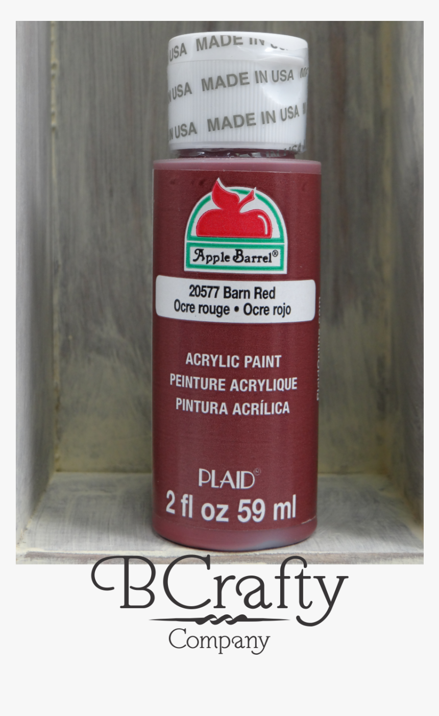 20577 Barn Red Apple Barrel Craft Paint - Cranberry, HD Png Download, Free Download