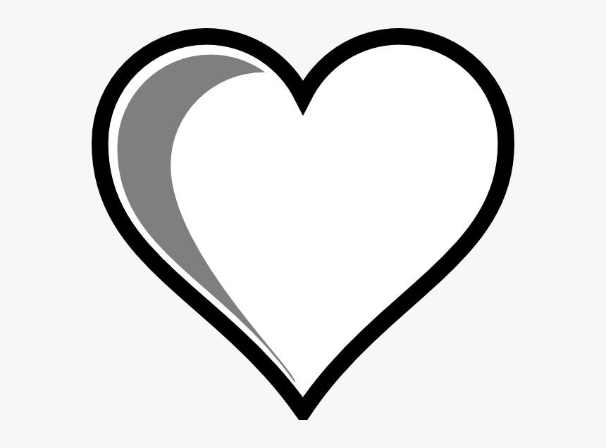 Love Heart Clipart Black And White, HD Png Download, Free Download