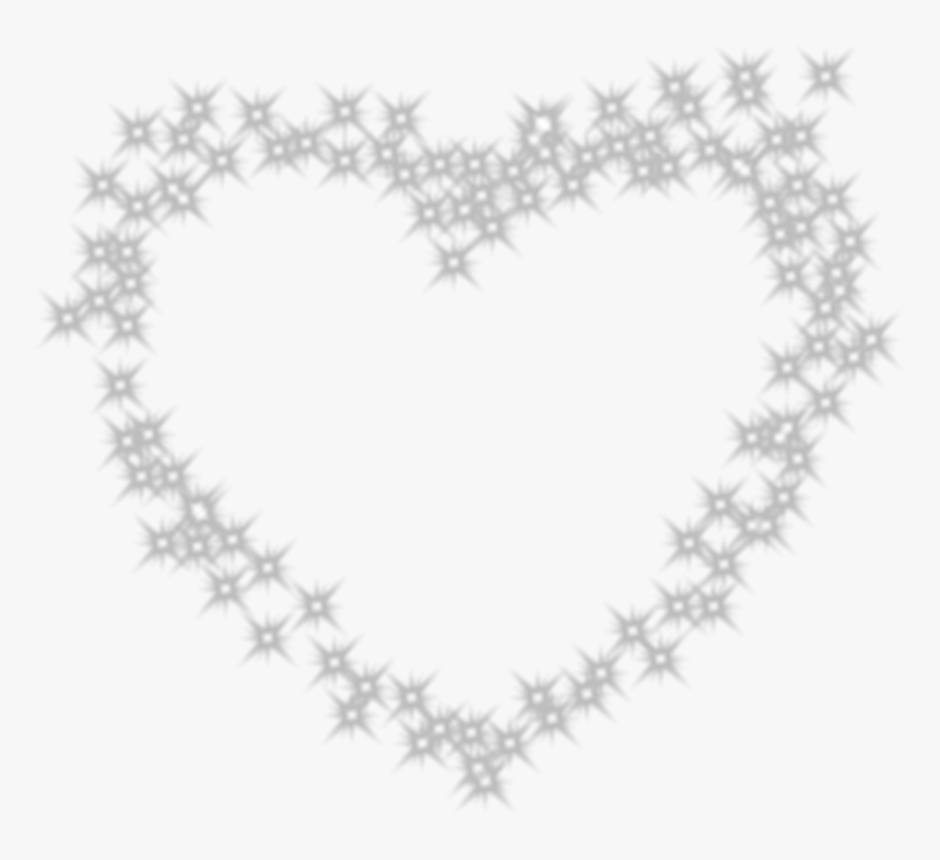 White Heart Black Pattern - Cross Stitch Heart Outline, HD Png Download, Free Download