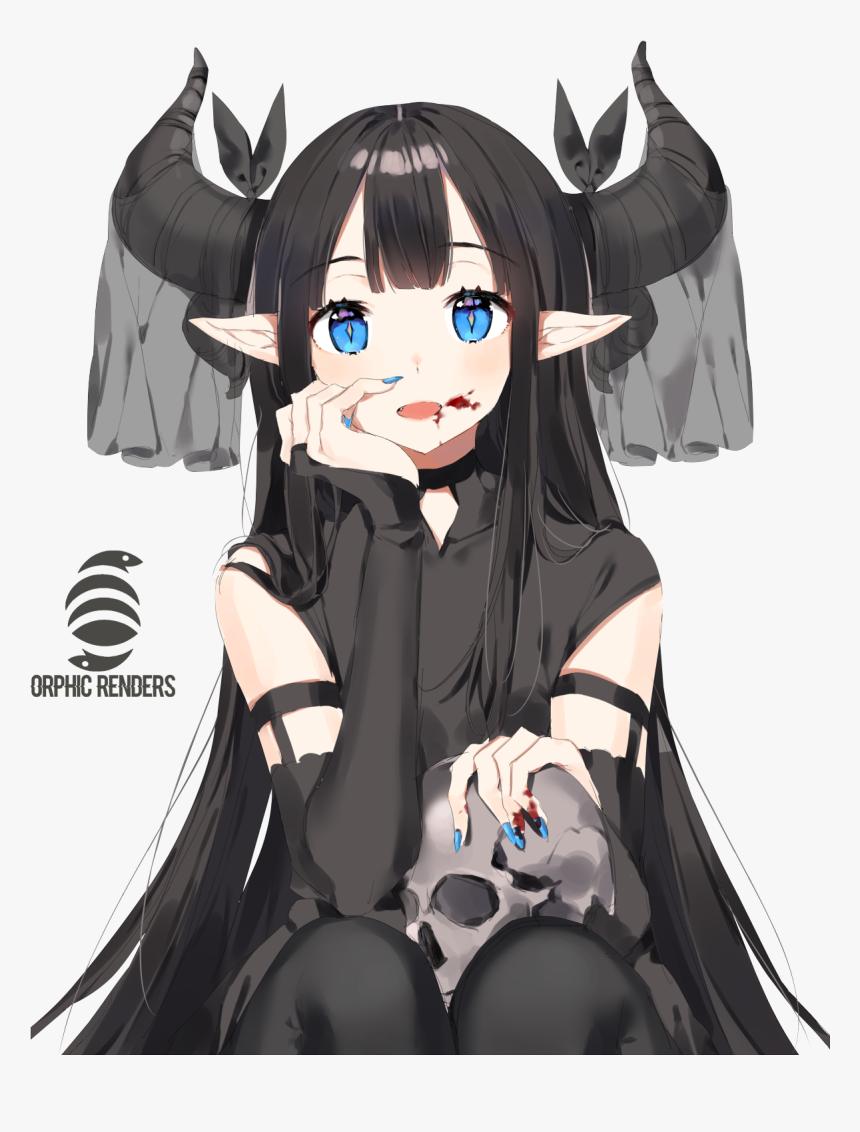Anime Demon Elf Girl, HD Png Download - kindpng