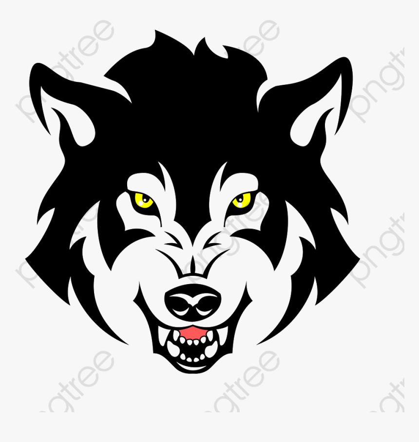 Angry Clipart Wolf - Angry Wolf Vector Png, Transparent Png, Free Download