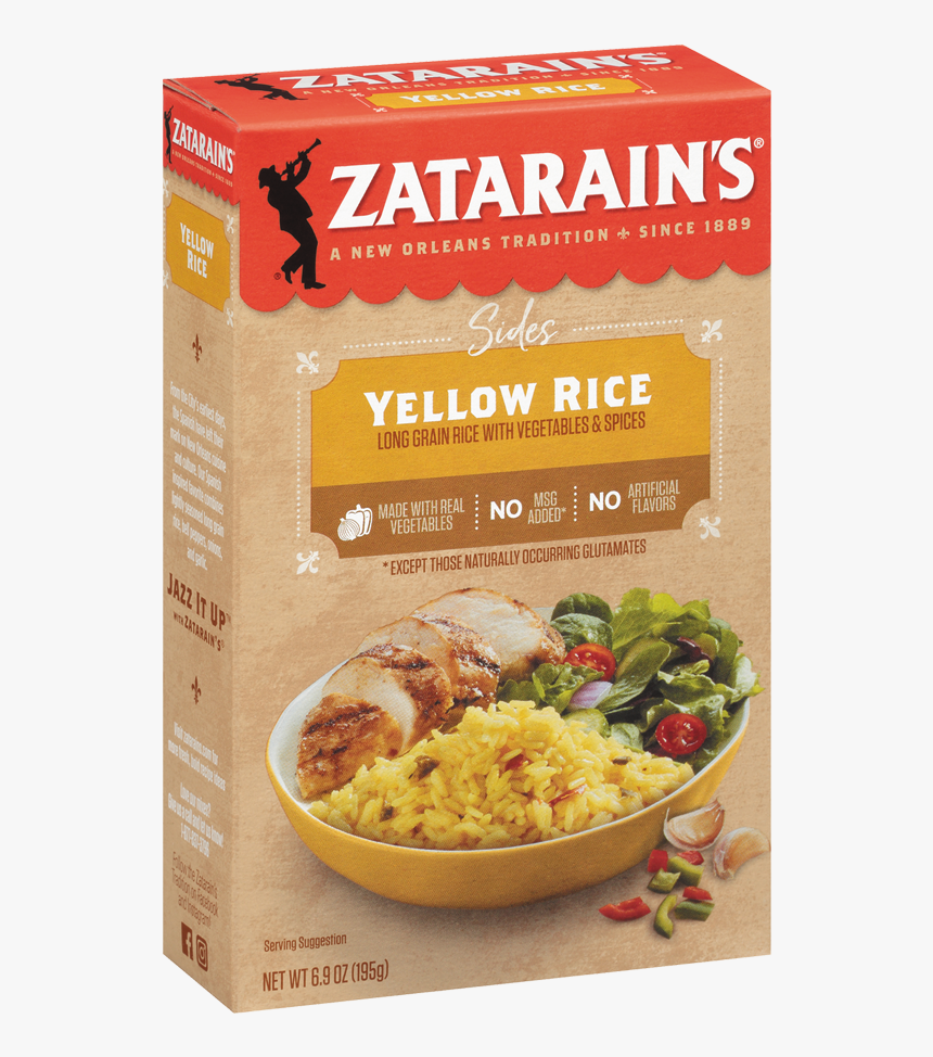 "Zatarain""s® Yellow Rice - Zatarain's Spanish Rice, HD Png Download, Free Download"