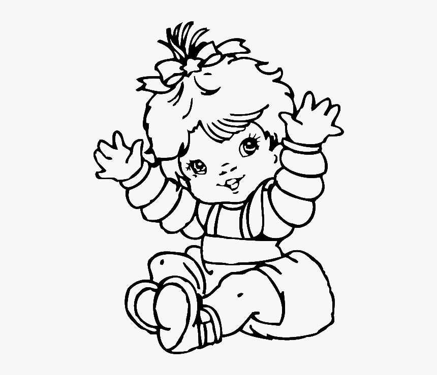 Alluring Cute Baby Girl Coloring Pages Colouring To - Cute Baby Coloring Pages Printable, HD Png Download, Free Download