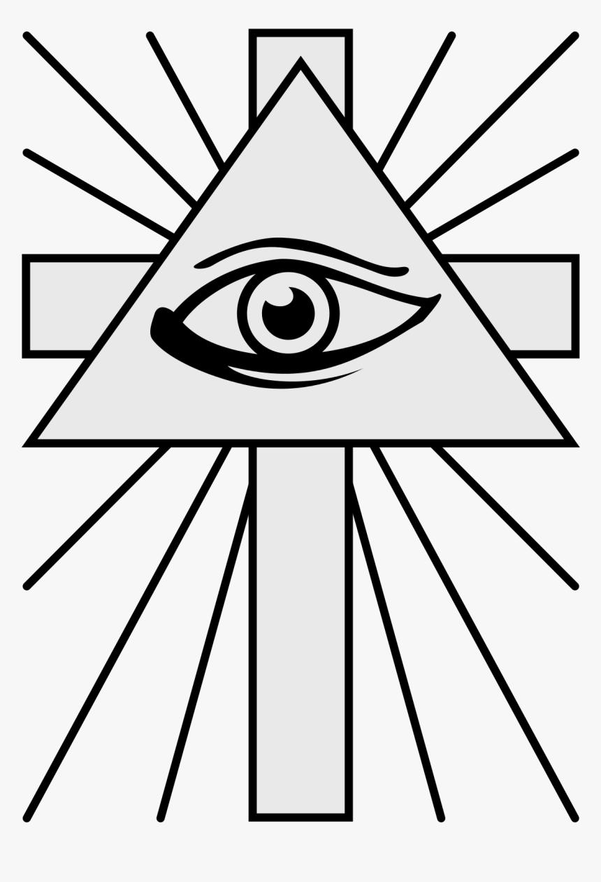Cross And Illuminati Eye, HD Png Download, Free Download