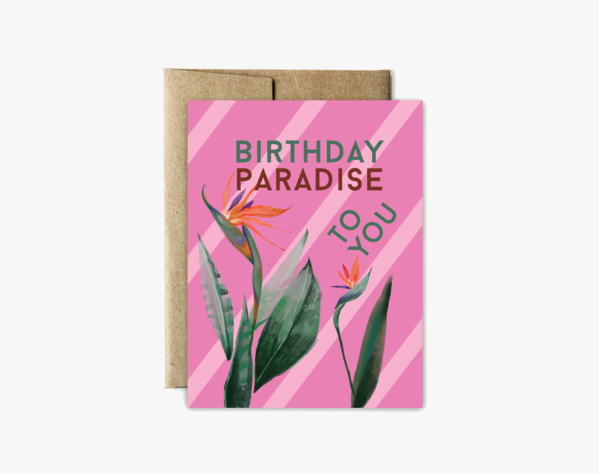 Paradise Birthday - Greeting Card, HD Png Download, Free Download