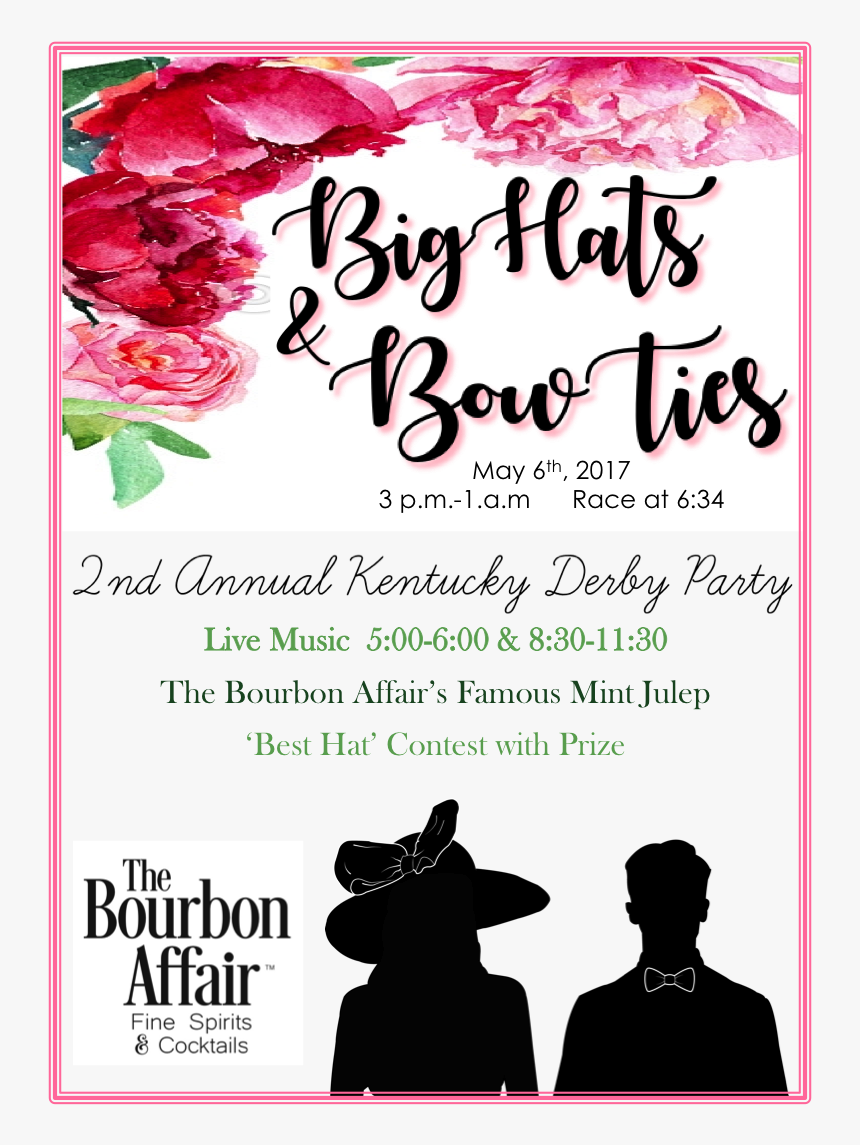 Big Hats & Bowties Derby Party - Big Hats And Bow Ties, HD Png Download, Free Download
