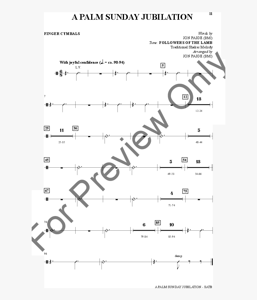 A Palm Sunday Jubilation Thumbnail - Sheet Music, HD Png Download, Free Download
